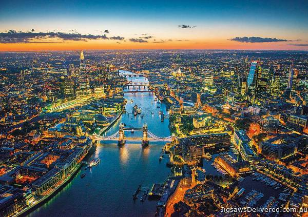 London Aerial View (EDU16765), a 1500 piece jigsaw puzzle by Educa.