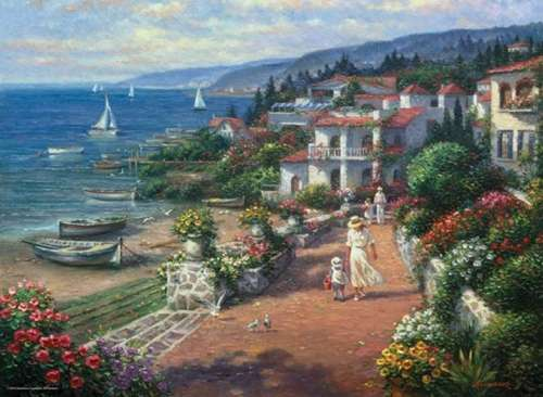 Coastal Tranquility (ANA3103), a 1000 piece jigsaw puzzle by Anatolian. Click to view larger image.