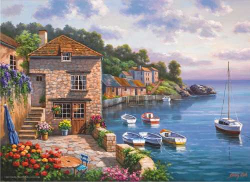 Harbour Garden (ANA3117), a 1000 piece jigsaw puzzle by Anatolian. Click to view larger image.