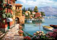 Villa de Lago (ANA4524), a 1500 piece jigsaw puzzle by AnatolianArtist Sung Kim. Click to view this jigsaw puzzle.