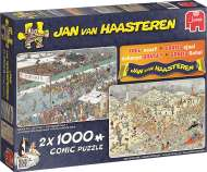 Winter Fun (2 x 1000pc) (JUM19035), a 1000 piece Jumbo jigsaw puzzle.