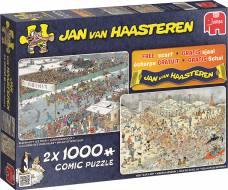 Winter Fun (2 x 1000pc) (JUM19081), a 1000 piece Jumbo jigsaw puzzle.