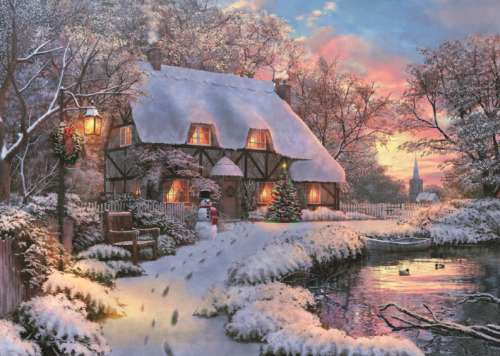 The Poet's Cottage (JUM11133), a 1000 piece jigsaw puzzle by Jumbo. Click to view larger image.