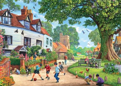 Brenchley Village, Kent (JUM11144), a 1000 piece jigsaw puzzle by Jumbo. Click to view larger image.