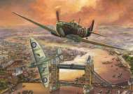 Spitfire over London (JUM11126), a 1000 piece Jumbo jigsaw puzzle.