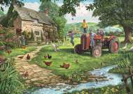 Old Tractor (Large Pieces) (JUM11140), a 200 piece Jumbo jigsaw puzzle.