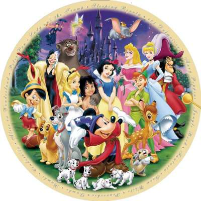 The Wonderful World of Disney (Part 1) (RB15784-6), a 1000 piece jigsaw puzzle by Ravensburger. Click to view larger image.
