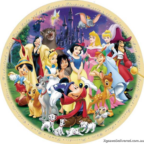 The Wonderful World of Disney (Part 1) (RB15784-6), a 1000 piece jigsaw puzzle by Ravensburger.