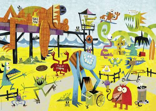 Monster Beach (HEY29798), a 1000 piece jigsaw puzzle by HEYE. Click to view larger image.
