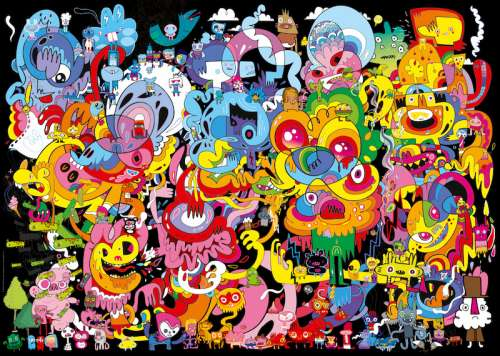 New Psychedoodlic (HEY29767), a 2000 piece jigsaw puzzle by HEYE. Click to view larger image.
