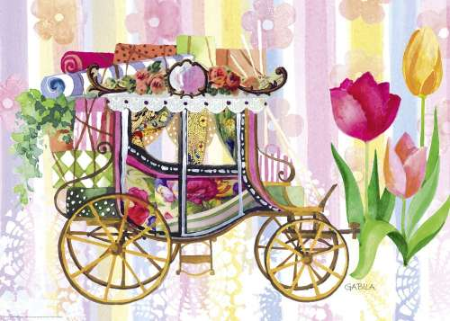 Carriage (Lovely Times) (HEY29780), a 1000 piece jigsaw puzzle by HEYE. Click to view larger image.