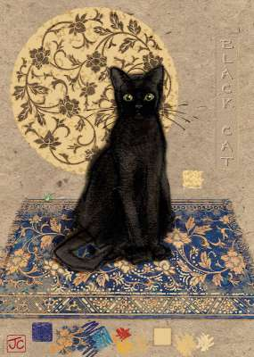 Black Cat (HEY29719), a 1000 piece jigsaw puzzle by HEYE. Click to view larger image.