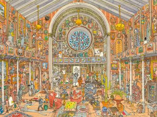 Curiosity Cabinet (HEY29794), a 1500 piece jigsaw puzzle by HEYE. Click to view larger image.