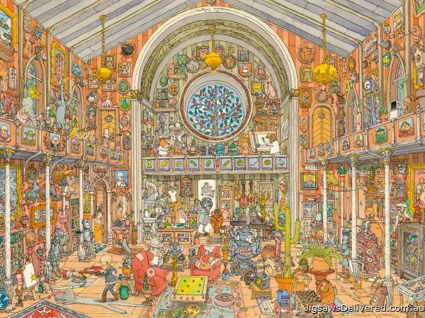 Curiosity Cabinet (HEY29794), a 1500 piece jigsaw puzzle by HEYE.