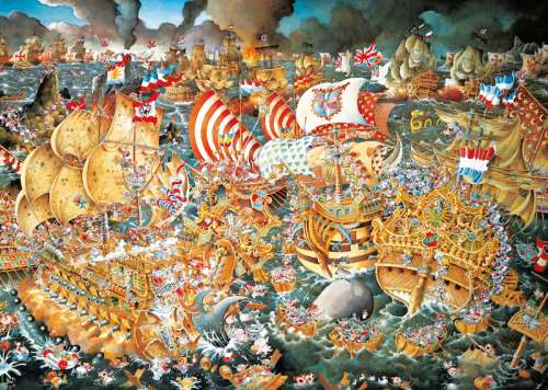 Trafalgar (HEY29795), a 2000 piece jigsaw puzzle by HEYE. Click to view larger image.