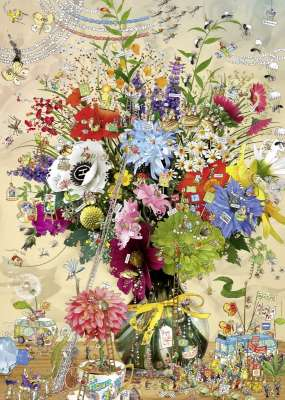 Flower's Life (HEY29787), a 1000 piece jigsaw puzzle by HEYE. Click to view larger image.