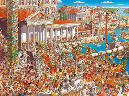 Ancient Rome (HEY29791), a 1500 piece jigsaw puzzle by HEYE. Click to view larger image.