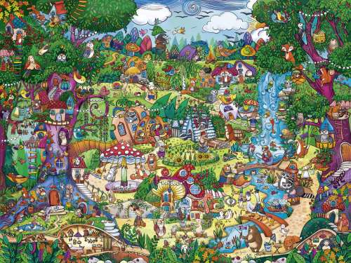 Wonderwoods (HEY29792), a 1500 piece jigsaw puzzle by HEYE. Click to view larger image.