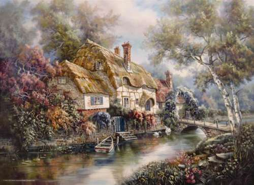 Stonewall Cottage (ANA3089), a 1000 piece jigsaw puzzle by Anatolian. Click to view larger image.