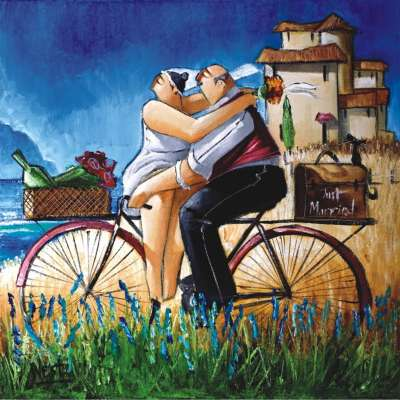 Just Married (ANA1013), a 1024 piece jigsaw puzzle by Anatolian. Click to view larger image.