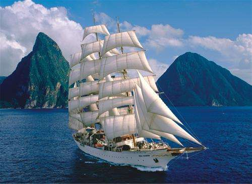 Sea Cloud II (ANA1006), a 1000 piece jigsaw puzzle by Anatolian. Click to view larger image.