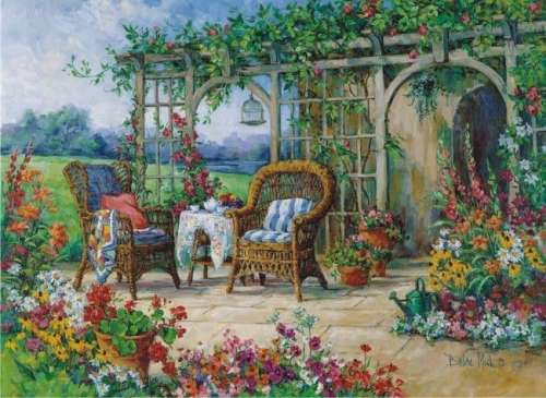 Sunny Morning (ANA1001), a 1000 piece jigsaw puzzle by Anatolian. Click to view larger image.