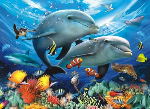 Beneath The Waves (ANA3131), a 1000 piece jigsaw puzzle by Anatolian. Click to view larger image.