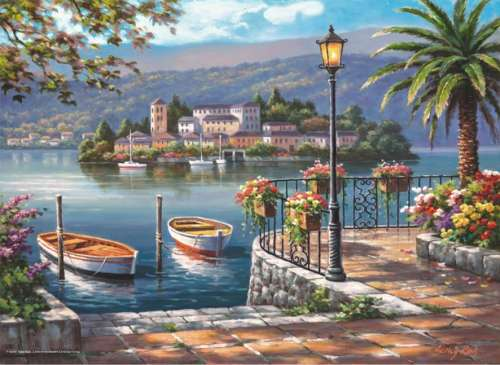 Lago Del Porto (ANA3129), a 1000 piece jigsaw puzzle by Anatolian. Click to view larger image.