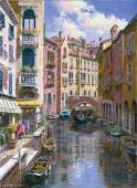 Ponte Longo, Venice (ANA3105), a 1000 piece jigsaw puzzle by Anatolian and artist Sung Kim. Click to view this jigsaw puzzle.