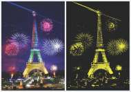 Eiffel Tower, Paris (Glow in the Dark) (ANA1902), a 1000 piece Anatolian jigsaw puzzle.
