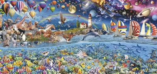 Life (Panorama) (EDU17132), a 3000 piece jigsaw puzzle by Educa. Click to view larger image.