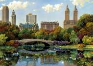 Central Park Bow Bridge, New York (EDU17136), a 8000 piece Educa jigsaw puzzle.