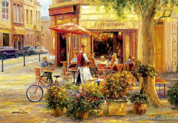 Corner Cafe (EDU17130), a 2000 piece jigsaw puzzle by Educa.
