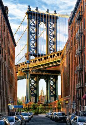 Manhattan Bridge, New York (EDU17100), a 1000 piece jigsaw puzzle by Educa. Click to view larger image.