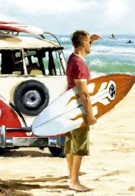 Surfer (EDU17084), a 500 piece jigsaw puzzle by Educa. Click to view larger image.