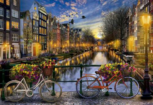 Amsterdam (EDU17127), a 2000 piece jigsaw puzzle by Educa. Click to view larger image.