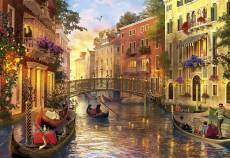 Sunset in Venice. Click to view this product