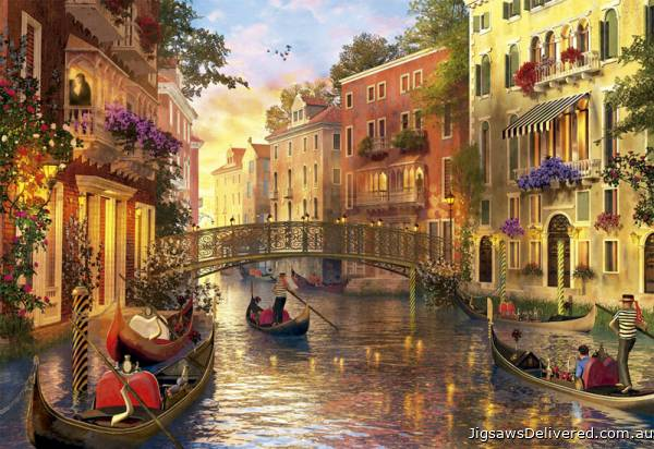 Sunset in Venice (EDU17124), a 1500 piece jigsaw puzzle by Educa.