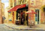 Hillside Cafe (EDU17123), a 1500 piece Educa jigsaw puzzle.