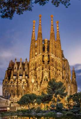 Sagrada Familia (EDU17097), a 1000 piece jigsaw puzzle by Educa. Click to view larger image.