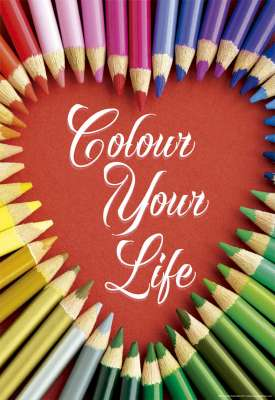 Colour Your Life (EDU17081), a 500 piece jigsaw puzzle by Educa. Click to view larger image.