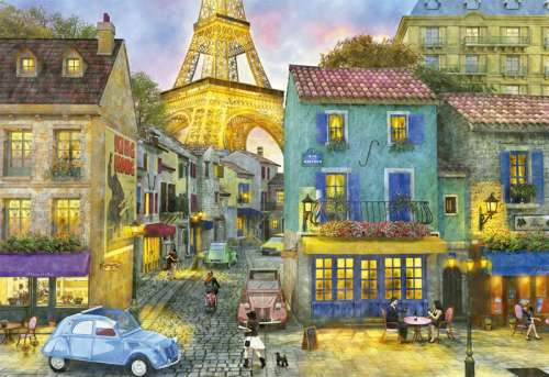 Paris Streets (EDU17122), a 1500 piece jigsaw puzzle by Educa. Click to view larger image.