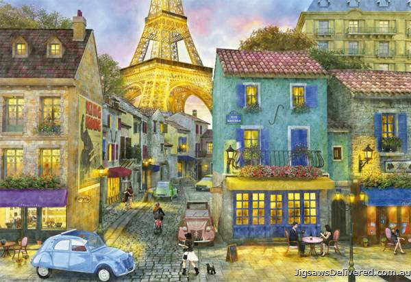 Paris Streets (EDU17122), a 1500 piece jigsaw puzzle by Educa.
