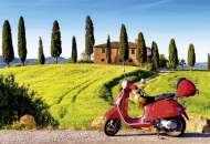 Scooter in Tuscany (EDU17121), a 1500 piece Educa jigsaw puzzle.
