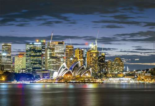 Sydney Twilight (EDU17106), a 1000 piece jigsaw puzzle by Educa. Click to view larger image.