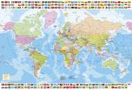 Political World Map (EDU17117), a 1500 piece Educa jigsaw puzzle.