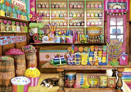 Candy Shop (EDU17104), a 1000 piece jigsaw puzzle by Educa. Click to view larger image.