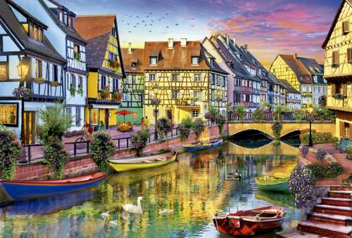 colmar canal france jigsaw by dominic davison edu17134 4000 pcs jigsaws delivered aussie. Black Bedroom Furniture Sets. Home Design Ideas