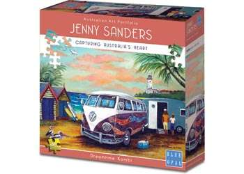 Dreamtime Kombi (BL01964), a 1000 piece jigsaw puzzle by Blue Opal. Click to view larger image.