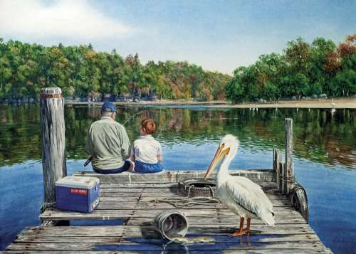 Catch of the Day (BL01955), a 1000 piece jigsaw puzzle by Blue Opal. Click to view larger image.